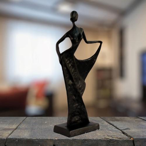 BRIGITTE CHIC LADY Elur Iron Figurine 27cm Mocha