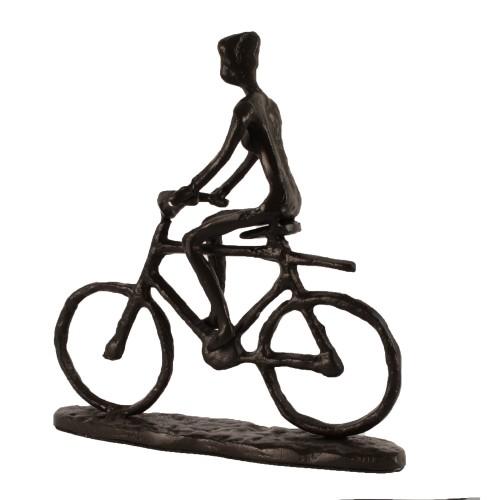 BICYCLE MAN Elur Iron Figurine 19cm Mocha