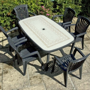 Toscana 165 with Diana chairs - Anthracite