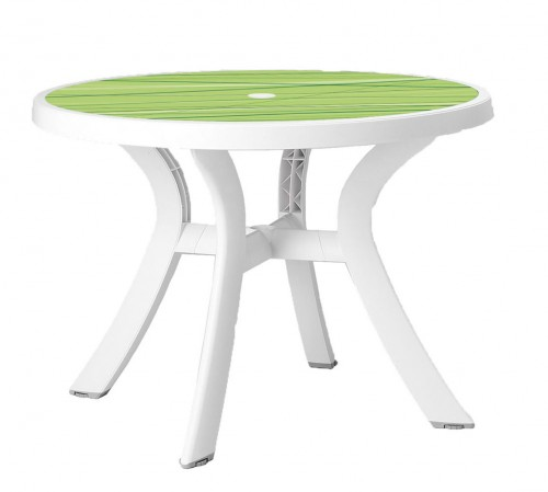 Toscana 100 Table - lime green decor top