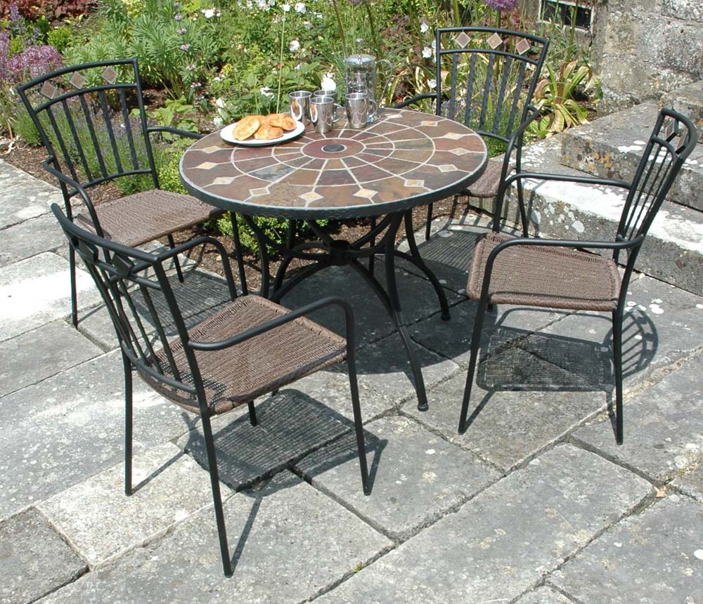 Granada patio table for Garden furniture table and chairs