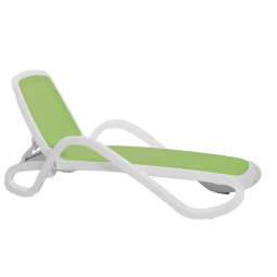 Alfa Lounger - white & lime