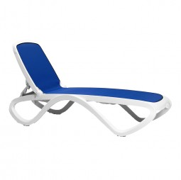 Omega lounger - Blue & White