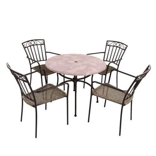 Romano Patio table with Modena chairs