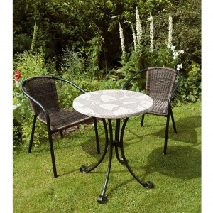 Romanto Bistro table with San Remo chairs
