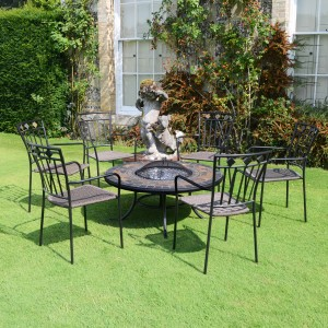 Durango low firepit with Malaga chairs