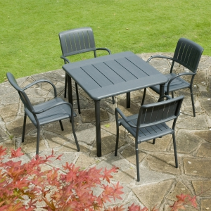 Maestrale 90 - Anthracite with Musa chairs
