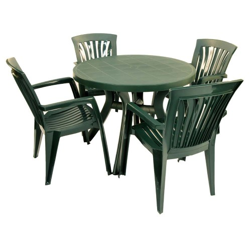 Toscana 100 green with Diana chairs