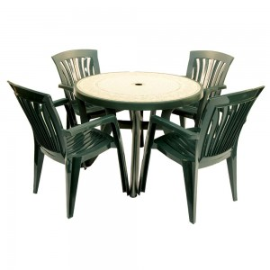 Toscana 100 table Ravenna top with Diana chairs
