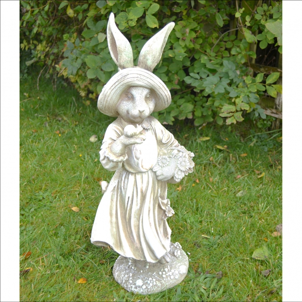Mrs Rabbit Statue