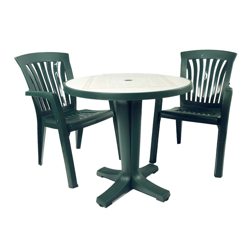 Marte 78 table green europa leisure uk for Plastic garden furniture