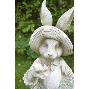 Mrs Rabbit Statue Close Up