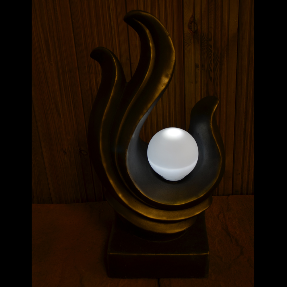 Solar Lamp Contemporary Statue