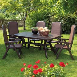 Nardi's Coffee Resin Garden Furniture