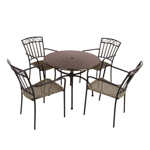 Fleuretta Patio table with Modena chairs