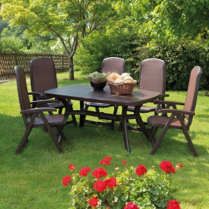 Toscana 165 - plain coffee with Delta chairs
