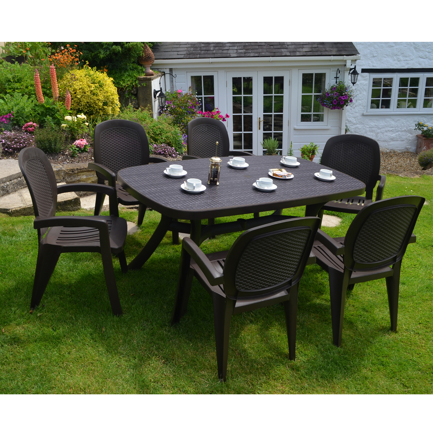 Toscana 165 wicker coffee europa leisure uk for Plastic garden furniture