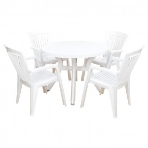 Toscana 100 white with Diana chairs