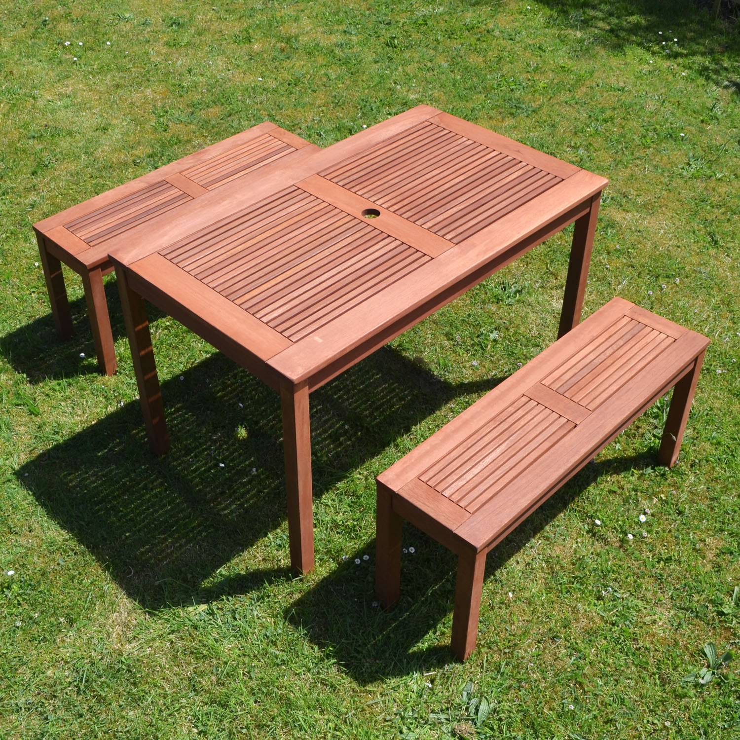 Helsinki bench seat set for Outdoor table with bench seats