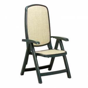 Delta reclining chair - green