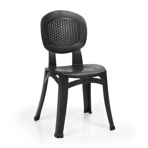 Elba chair Anthracite Wicker