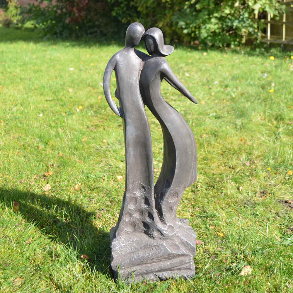 First Date Black Contemporary Statue