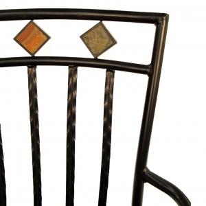 Malaga Garden Chair Seat Back Detail