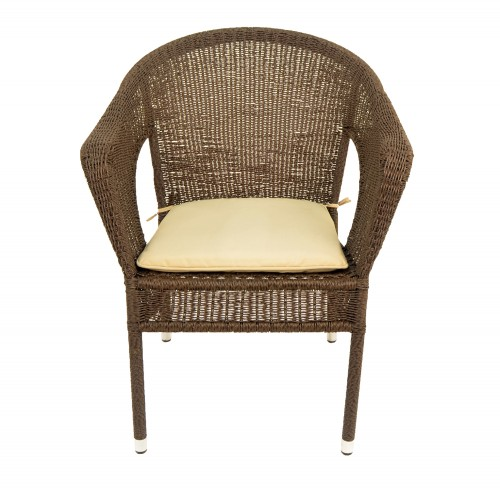 Woburn Garden Chair Front Beige Cushion
