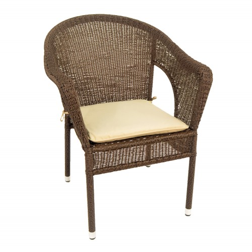 Woburn Garden Chair Front Right Beige Cushion