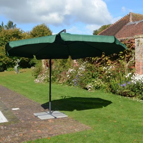 Green Cantilever Parasol
