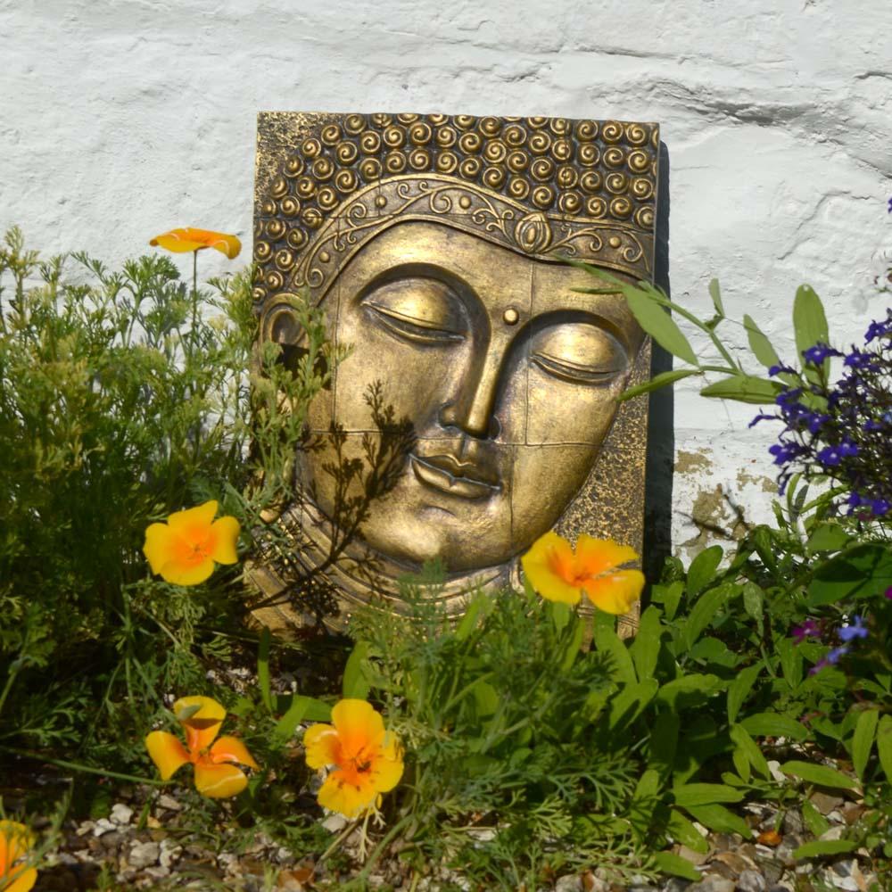 Buddha Wall Plaque Gold Europa Leisure Uk