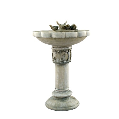 Derwend Bird bath - Antique Grey