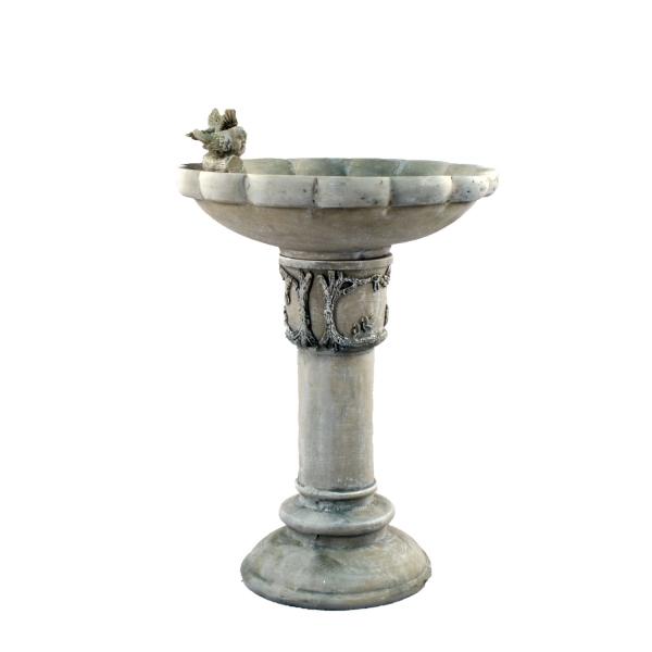 Derwend Bird bath - Antique Grey