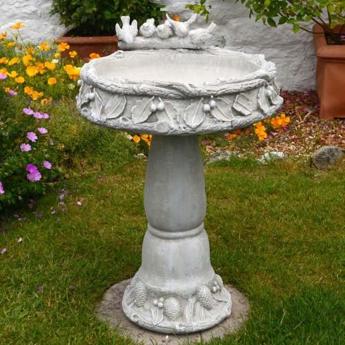 Coniston bird bath Antique grey