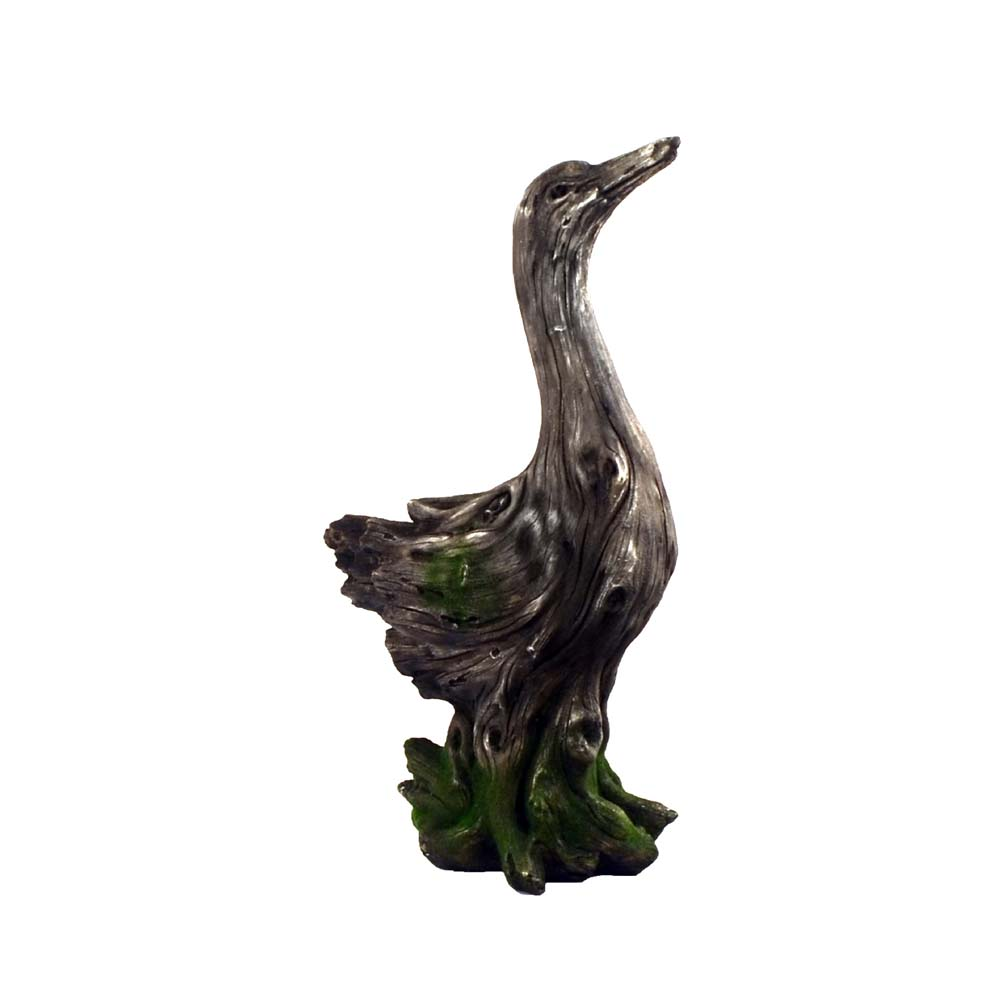 Driftwood Duck Garden Statue And Planter