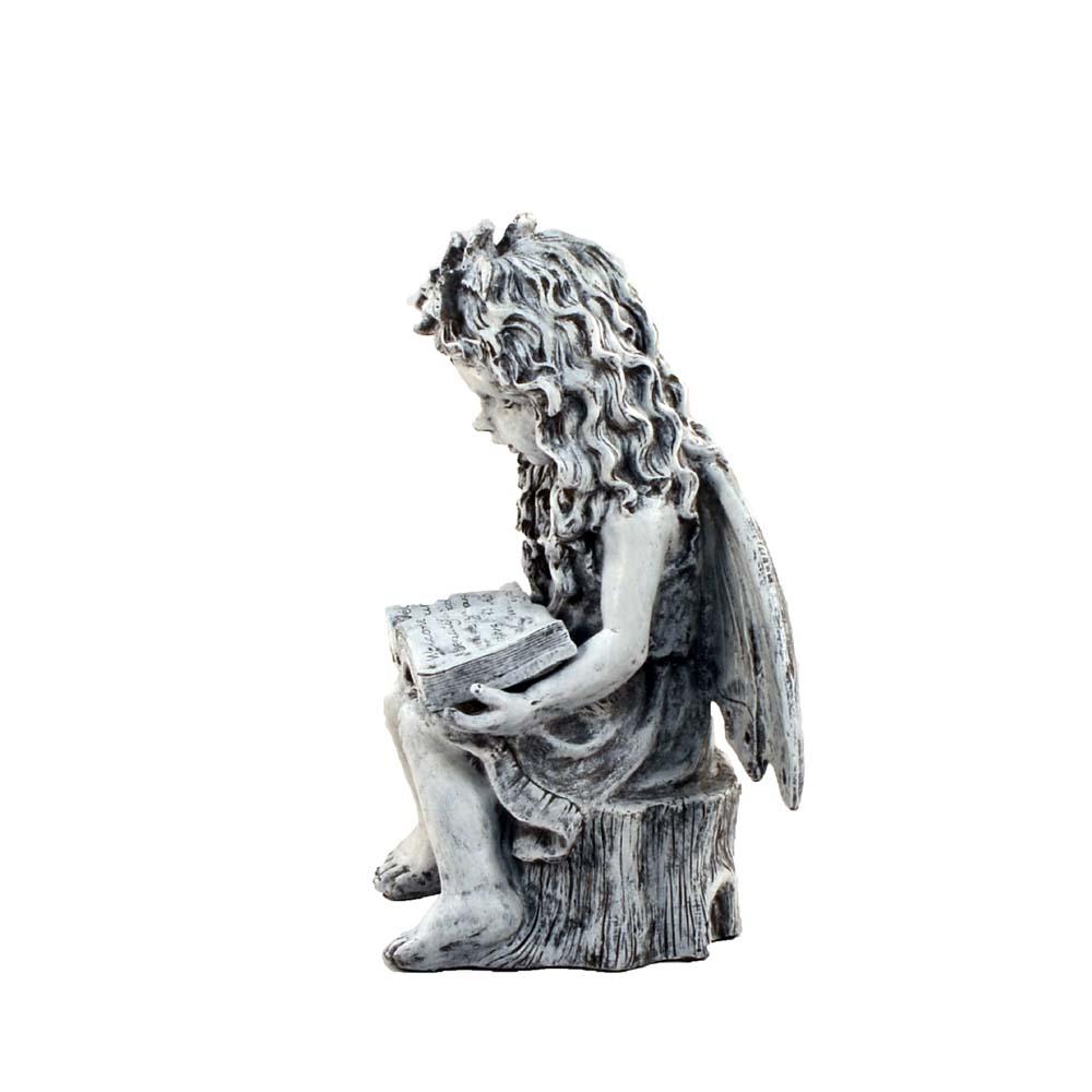Angel Reading 46cm Tall Garden Statue
