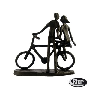 Couple with Bicycle - front