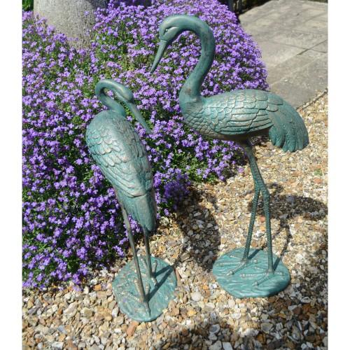 Cranes pair statue