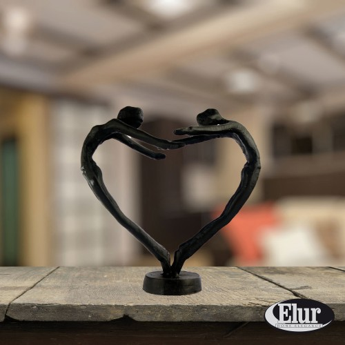 Heart Couple - Elur figurine