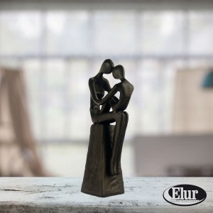 Mother and Child Sitting Figurine