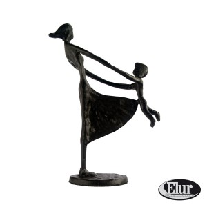 Mother and Child Swinging Figurine