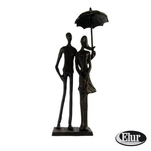Umbrella Couple Standing Figurine