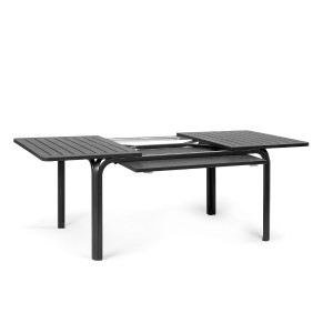 Alloro Anthracite table opened