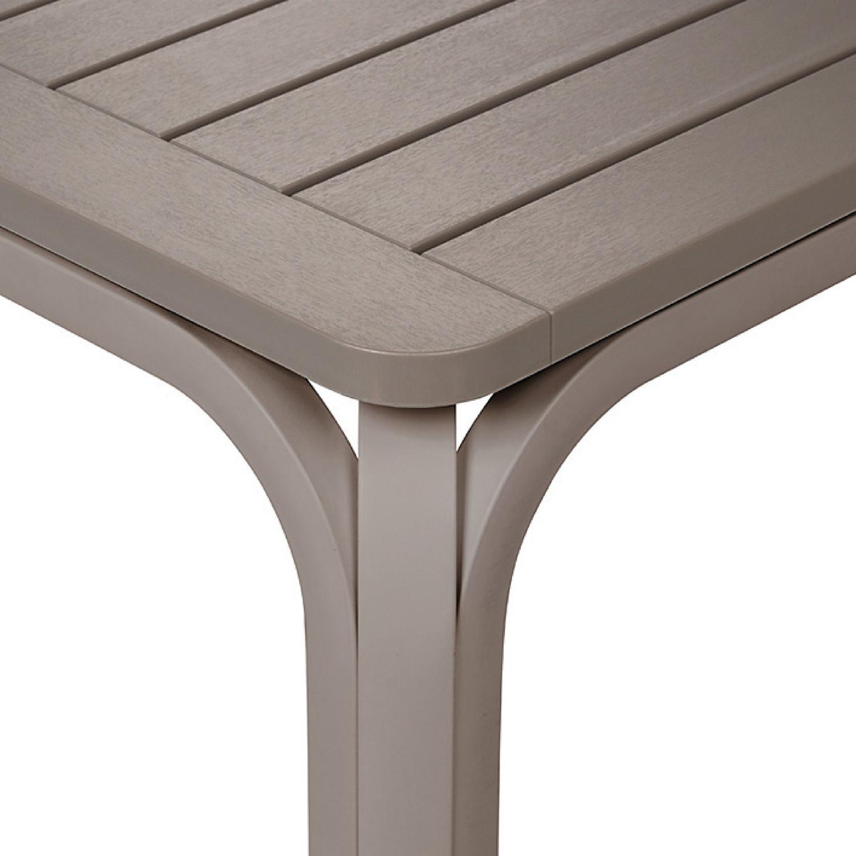 Alloro table in Turtle Dove - close up grey