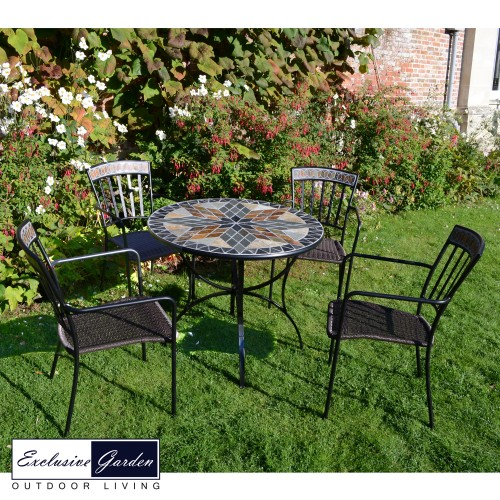 Arlington 91cm Patio Table with Kingswood chairs