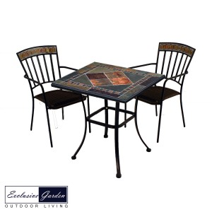 Clandon 71cm square table with 2 Kingswood chairs