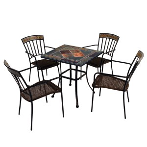 Clandon 71cm square table with 4 Kingswood chairs