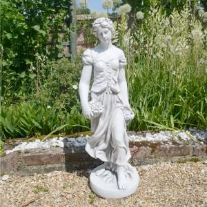 Sally in Summer garden statue