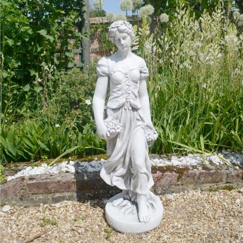 Sally in Summer garden statue