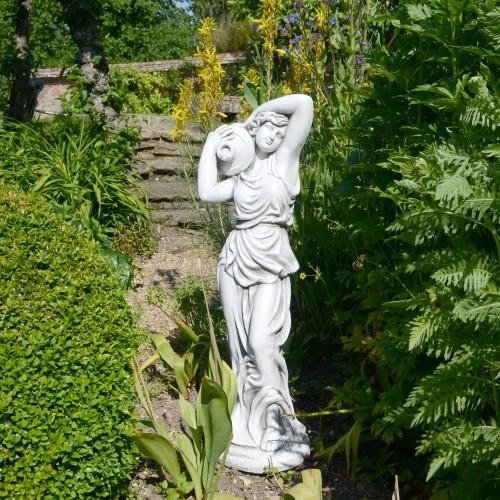 Elizabeth urn girl garden statue